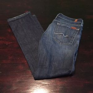 Size 27 7 for all mankind  straight leg jeans.